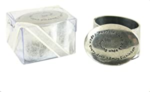Emily Dickinson Inspirational Metal Oval Pill Ring Keepsake Box