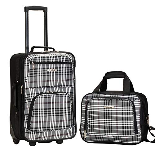 Luggage Sets Plaid (Rockland Luggage 2 Piece Printed Set, Blackcross, Medium)