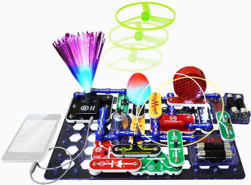 Snap Circuits SCL-175 Lights Electronics Exploration Kit | Over 175 Exciting STEM Projects | 4-Color Project Manual | 55 Snap Modules | Unlimited Fun by Snap Circuits (Image #1)