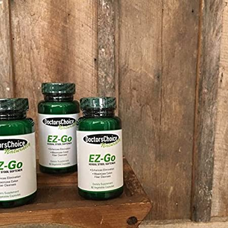 Amazon.com: EZ-Go Natural Stool Softener by Doctors Choice | Gentle Herbal Dietary Supplement with Natural Ingredients Enhances Intestinal Bowel Elimination ...