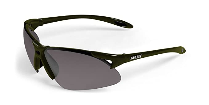 fedba75f6e4 Maxx Sunglasses 2017 TR90 Maxx 2 Green Polarized Smoke Lens at Amazon Men s  Clothing store