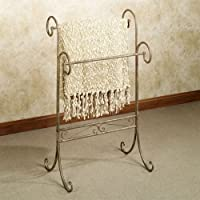 Olivia Wongs Messina Iron Blanket Rack Tuscan Rustic