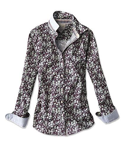 Orvis Women's Wrinkle-Free Patterned Shirt, Wine Floral, 14