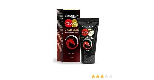Libidofly Delay gel 50 ml Medio para aumentar la potencia para retrasar el orgasmo - para una larga y dura erección para el sexo de larga duración - de ...
