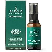 Sukin Super Greens Facial Recovery Serum, 30ml