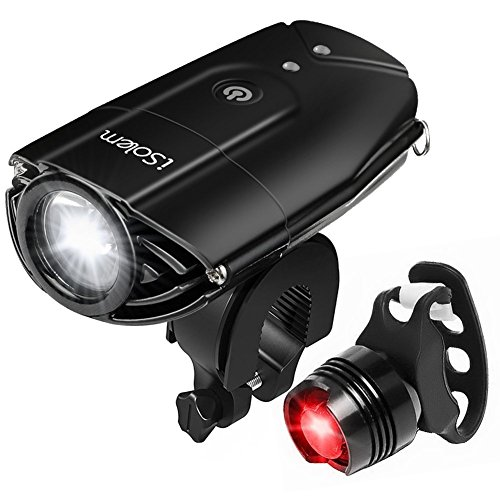 iSolem Rechargeable LED Bike Light Set, 3-Mode