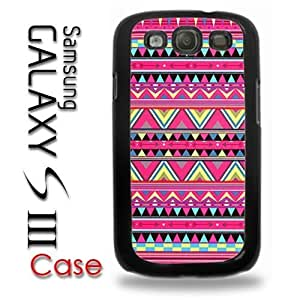 For Case HTC One M7 Cover Plastic Case - Pink Aztec Colorful Pattern Print Indian Tribal Style