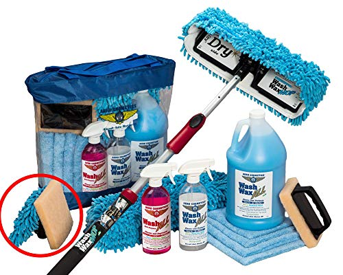 Aero Cosmetics Waterless RV Aircraft Boat Wash Wax Mop Kit with Bug Scrubber/Mini Mop No Ladder Needed Wash Wax Dry Anywhere Anytime No Restrictions