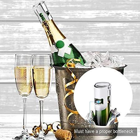 Aipaide 6 Piezas Tapón de Vino 3pcs Tapón de Champán de Acero Inoxidable y 3pcs Tapón de Vino de Bola para Vino Tinto, Espumoso, Cava
