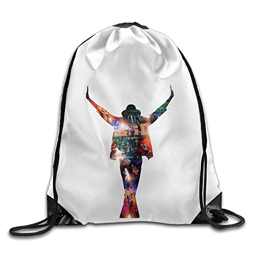 Bekey King Of Pop Michael Gym Drawstring Backpack Bags For Men & Women For Home Travel Storage Use Gym Traveling Shopping Sport Yoga (Bag Of Rice Costume)
