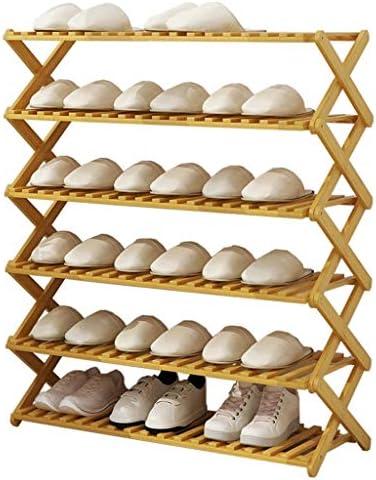 靴ラック折りたたみドア小さな靴キャビネット6層多機能シンプルホームフロアシェルフリビングルーム/キッチン/バルコニー/オフィス ++ (Size : 70x31x91cm)