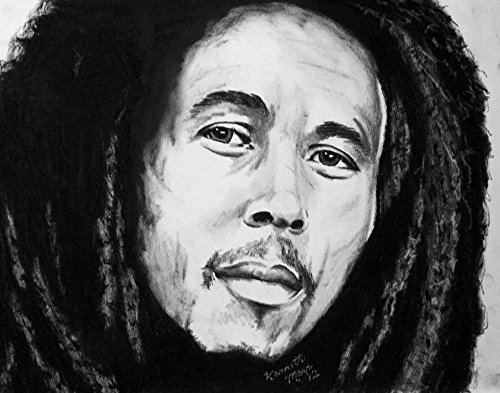 Chalk Drawing Prints of Great Musicians (Bob