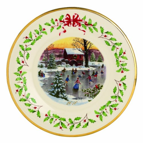 Lenox 2010 Holiday Plate, Holiday Skaters