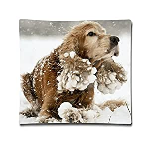 Best Cocker Spaniel Mango The Five Year Two Sides Printed Cushion Covers Polyester Velvet For Couch Size 18x18 Inch