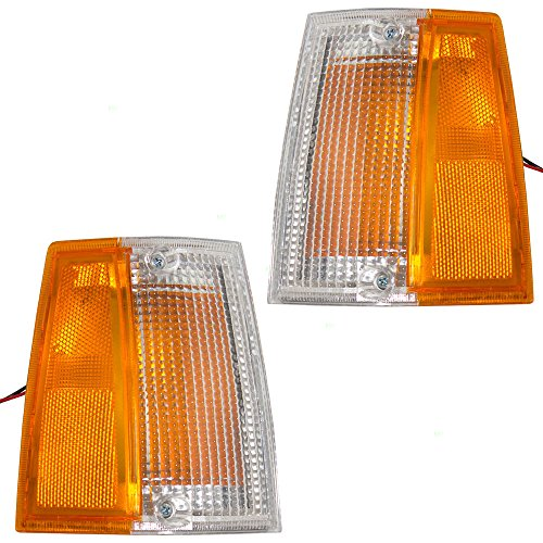 Driver and Passenger Signal Side Marker Lights Lamps Replacement for Mazda Pickup Truck UB3951100A UB3951090A