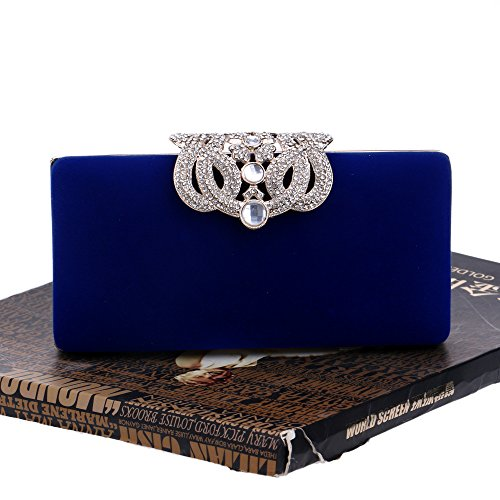 Blue Dinner Banquet Diamond Bag Crown Black Diamond Handbag Elegant Evening Dinner Dress Lady's Bag wear wqIX6A