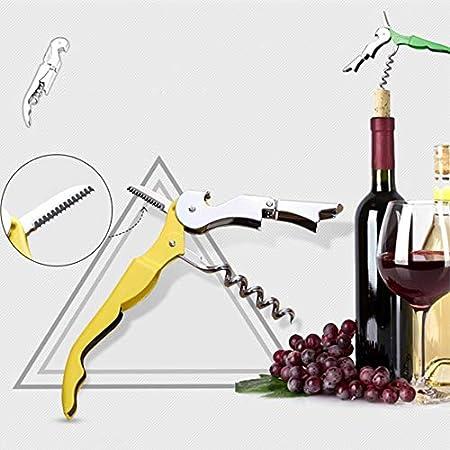 PONNMQ 2019 - Sacacorchos de Acero Inoxidable para Botellas de Vino, Botellas de Cerveza, Cortador de latas para Utensilios de Cocina, Accesorios de Bar, Color Amarillo