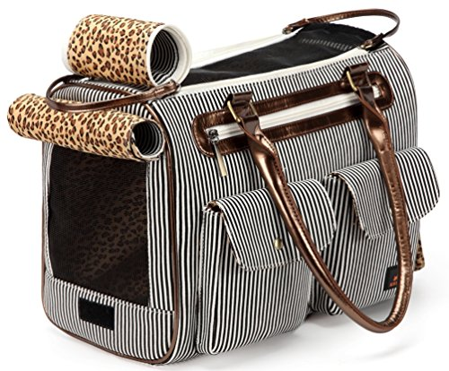 Kenox Fashion Dog Cat Pet Carrier Bags Travel Mesh Tote Handbag