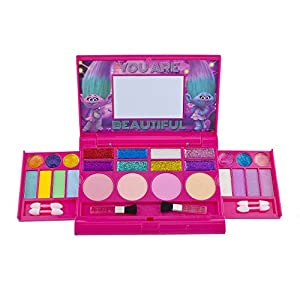 - 51lOP39oHoL - Townley Girl Super Sparkly Lip Compact Cosmetic Set for Girls, 22 Lip glosses, 4 blushes in Mirrored Case (Trolls)