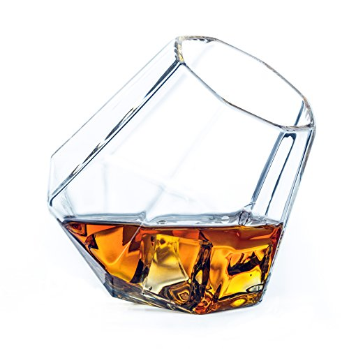 Dragon Glassware Whiskey Glasses   Unique Diamond Shaped Tumblers With Self Aerating Design   Premium Dragonglass For Whisky  Wine  Bourbon  Scotch  Brandy   Set Of 2   Dish Washer Safe   Gift Boxed