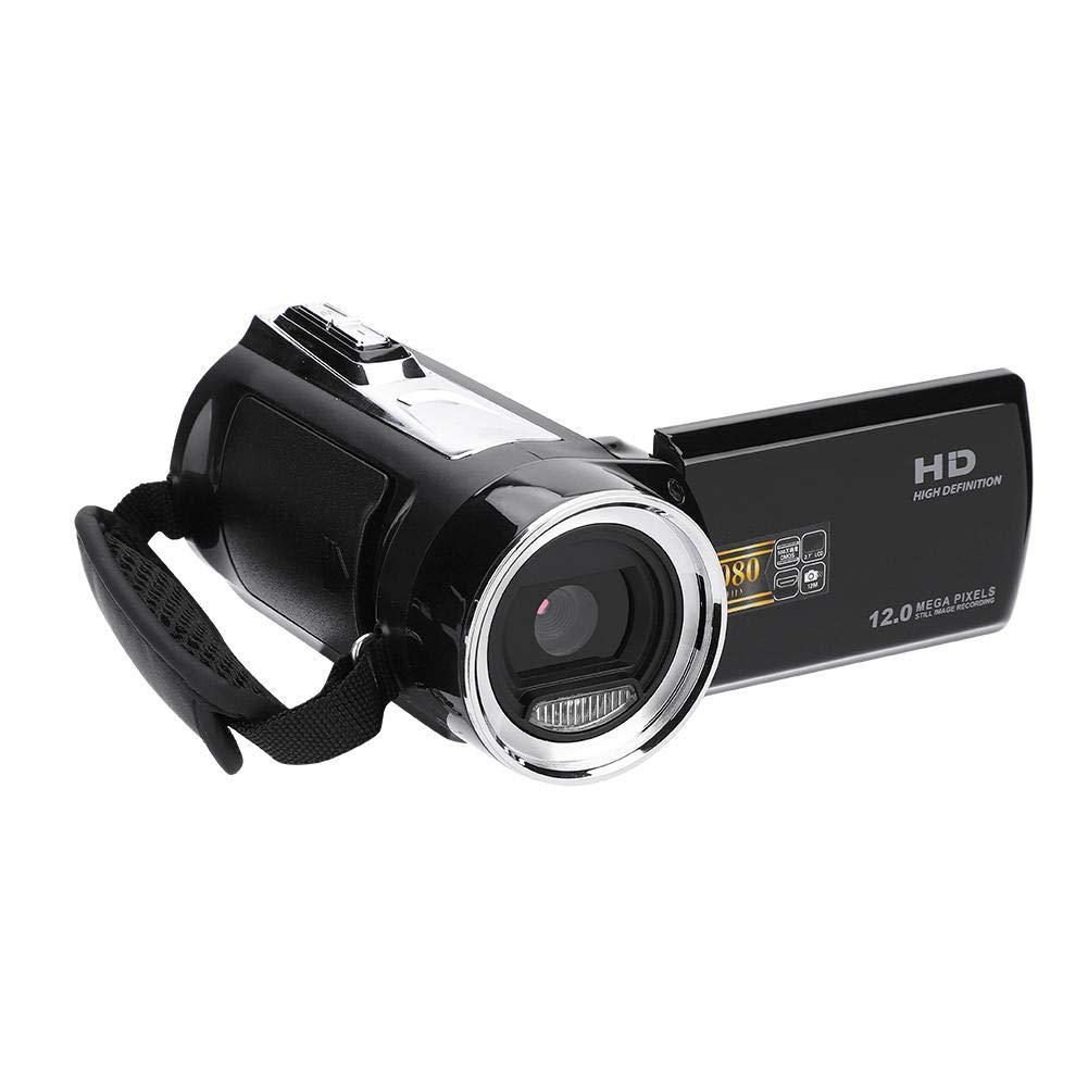Zopsc Video Camera Full HD 1080P DV Camcorder 8X Digital Zoom Hand-held Digital Camera Screen 270 Degree Rotation Continuous Shooting/Delay Shooting by Zopsc