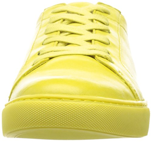 Kenneth Cole Women's Kam Ii Low-Top Sneakers, White, Medium Lemon/Leather