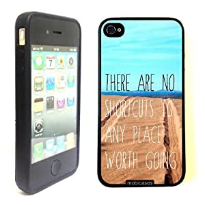 iphone covers Hipster Quote - There Are No Shortcuts To Anyplace Worth Going - Protective Designer BLACK Case - Fits Apple Iphone 6 4.7 / 4G