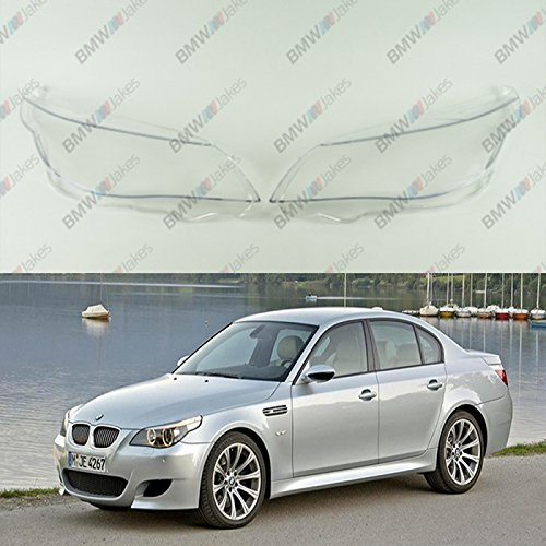 New Original Headlight Headlamp Lens Plastic Cover (PAIR) BMW 5 E60 / E61 BimmerJakes