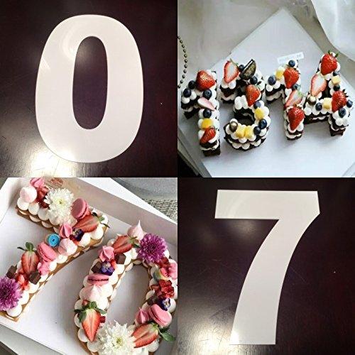 Juego de moldes para Tartas con número Grande de 0 a 9 para Hornear y repostería, para glaseado en Capas y Crema de Frutas, decoración de Bodas, cumpleaños, ...