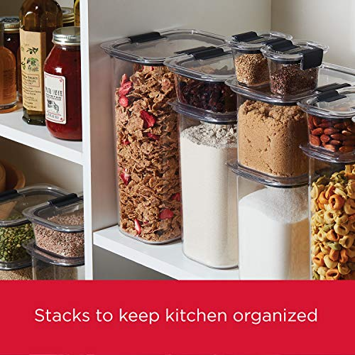 Rubbermaid Brilliance Pantry Organization & Food Storage Containers with Airtight Lids, Set of 10 (20 Pieces Total)