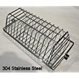 OneGrill Stainless Hexagon Tumble Grill Rotisserie Basket - Fits Large Spit Rods
