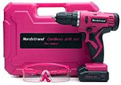 Nordstrand Pink Cordless Drill Set - Ele...
