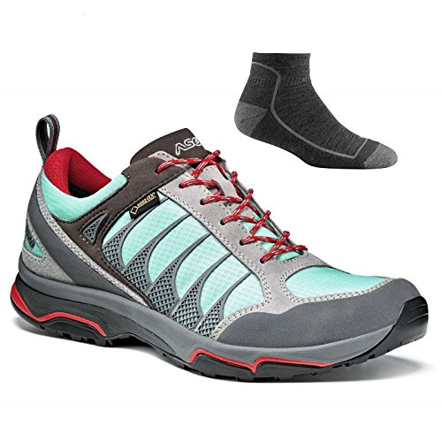 Pictures of Asolo Women's Blade GV Hiking Shoes Silver/Poolside W/ Socks 1