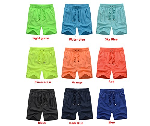 Haodasi Unisex Quick Dry Sports Jogging Beach Shorts Strand Shorts Swim Shorts Swimwear Bademode Boardshorts Color Red Size XL