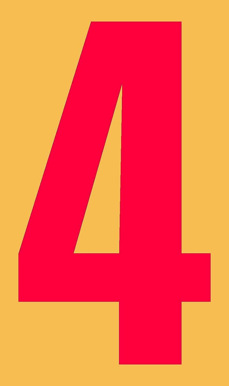 selbstklebend aus HartPlastic,15mm bis 200mm f/ür innen und au/ßen wei/ß oder rot seewasserfest 160mm, schwarz in schwarz Ziffer 4
