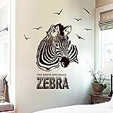 zebra decal - Iuhan Huge Zabra Vinyl Wall Sticker Zebra Wall Decals Animal Print Home Murals Decor