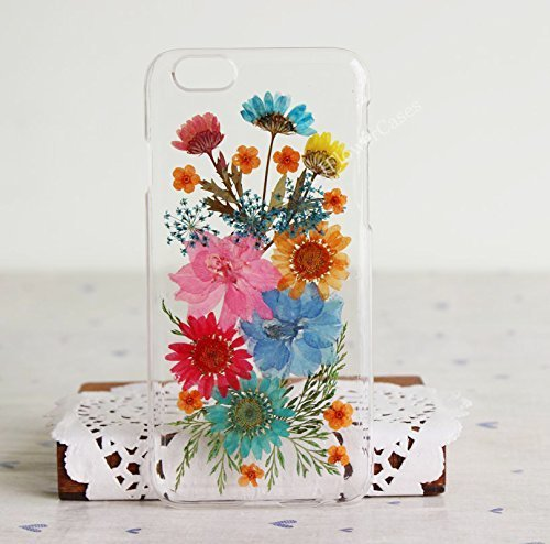 best service bdb78 d06be Rebbygena Case for Samsung Galaxy S8 Real Dried Pressed Flower Case Samsung  S8 Soft TPU Samsung Smart Phone Cases for Women Handmade Galaxy S8 Phone ...