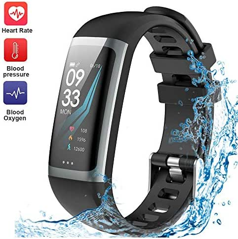 Fitness Tracker Waterproof Smart Watch Wristband Heart Rate Sleep Monitor Blood Pressure Test Multiple Sport Swimming Running Pedometer Men Women Kids Bluetooth iOS Android Phone Activity Tracker