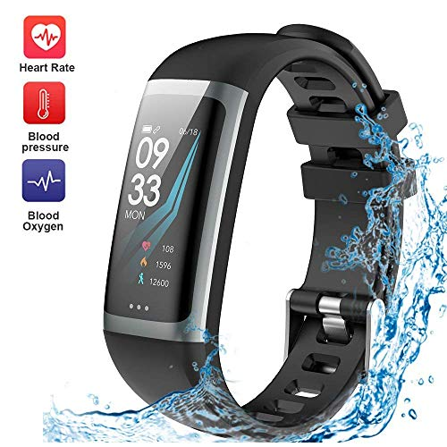 Fitness Tracker, G23 Heart Rate and ECG Fitness Watch Activity Tracker with Heart Rate Monitor Watch, IP68 Waterproof Sleep Monitor Step Counter 14 Sport Modes,Pedometer for Women Men Kids