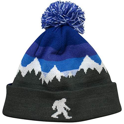 Headsweats Pom Pom Beanie Bigfoot Blue Sky Mountains