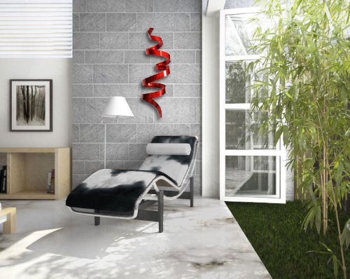 Contemporary Red Wall Sculpture - Cool Red wall art