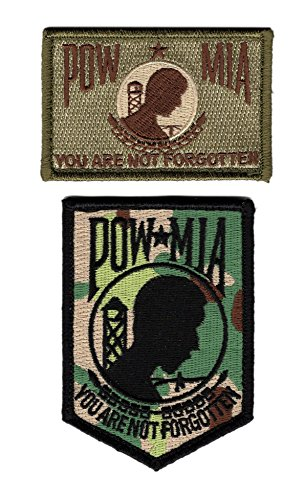 POW MIA You Are Not Forgotten Bundle 2pcs Patch by Miltacusa