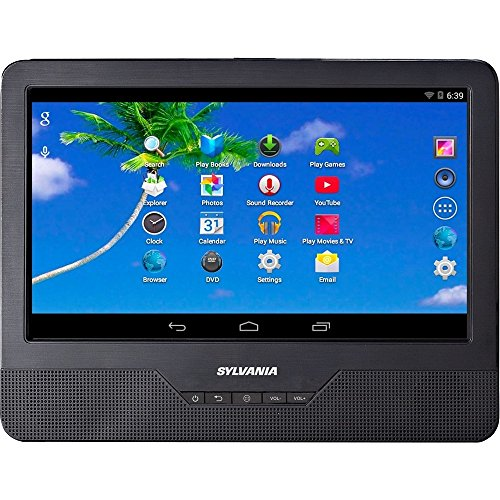 Sylvania SLTDVD9220 9in Android Tablet with Integrated Portable DVD Player (Renewed) (Dvd Player Tablet)