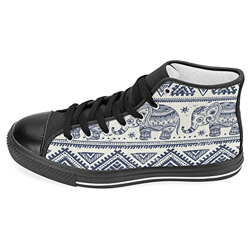 InterestPrint Womens High Top Classic Casual Canvas Fashion Shoes Trainers Lace Up Sneakers Elephant tumF2jJT