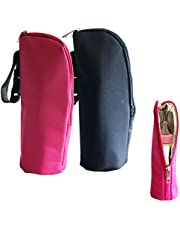 iSuperb 2 Pack Baby Bottle Tote Bags Nursing Bottle Cooler Warmer Insulated Bag for Travel Stroller 3.1x3.1x9.5inch (Pure Color)