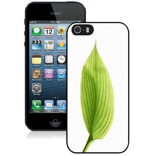 Coque,Fashion Coque iphone 5S Green Lotus Leaf Noir Screen Cover Case Cover Fashion and Hot Sale Design