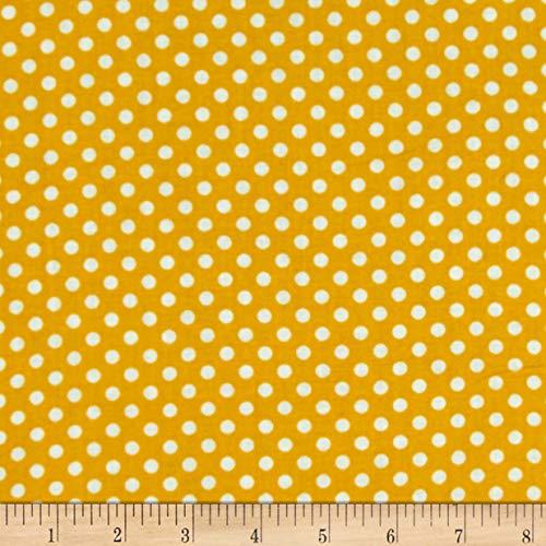 Yellow Polka Dot Fabric - Newcastle Fabrics Polka Dot Yellow, Fabric by the Yard