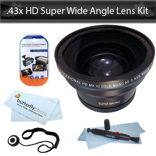 HD Super Wide Angle Panoramic Macro Fisheye Lens For The Nikon D3200, D5000, D3000 D3100, D5100 DSLR Cameras (18-55mm, 55-200mm, 50mm) Nikon Lenses + Lens Pen Cleaning System + Lens Cap Keeper + LCD Screen Protectors .