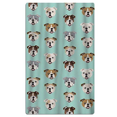 FSKDOM English Bulldog Dog Face Mint Green Double Jacquard P