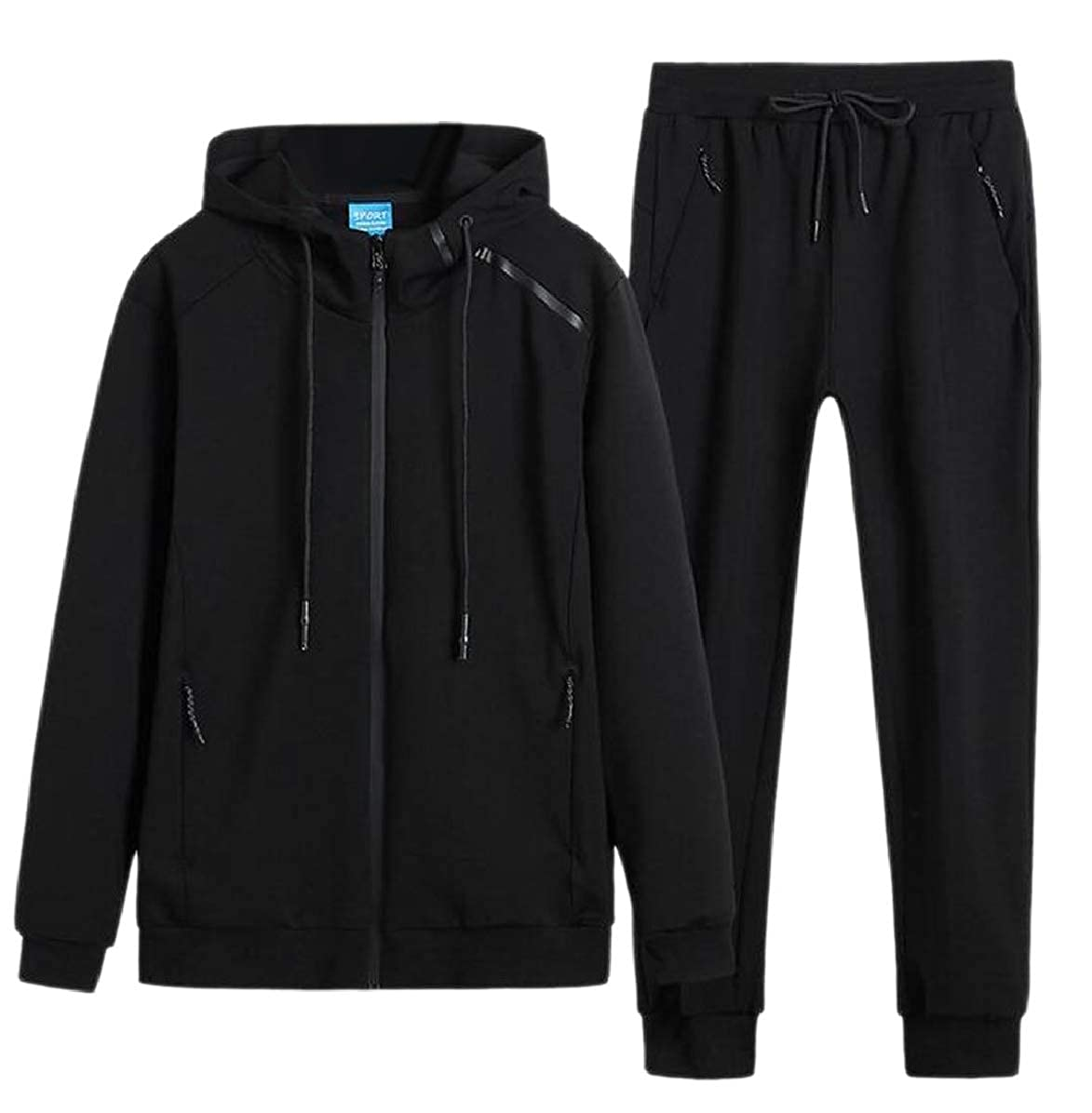 ONTBYB Mens Big /& Tall Two Piece Outfits Sweatpants Sweatsuit Hooded Tracksuits